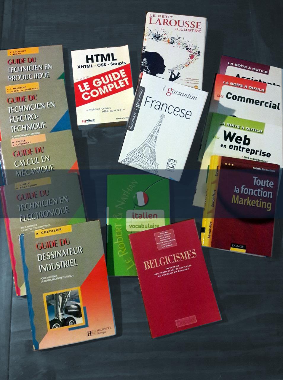 Quelques un de nos livres de références:un technicien et une linguiste au service de vos traductions