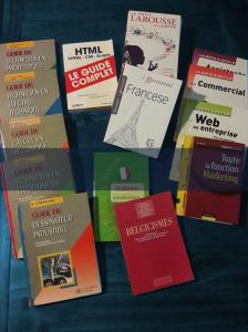 Une linguiste et un technicien – Quelques uns de nos livres de référence